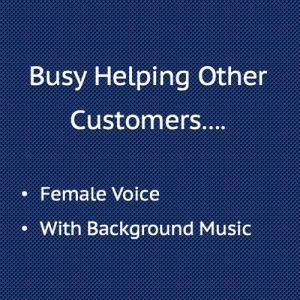 Busy Helping Other Customers with Background Music, Female Voice